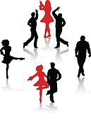 Folk Dance Clip Art - Royalty Free - GoGraph