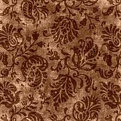 Vintage Brown Floral Tapestry