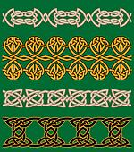 Celtic embellishments and ornaments