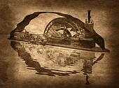 Grungy Steampunk Boat