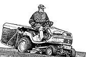 Gardener lawnmower tractor