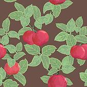 Seamless vector texture with apples