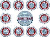 Winners award badges