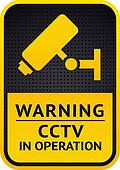 Video surveillance sticker 10eps