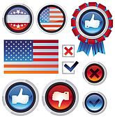 Vector set with voting and election design elements