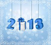 Happy new year 2013! New year design template. Vector illustration.