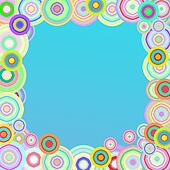 Vintage colorful circles background