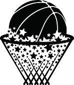 Basketball in Star Net