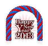 illustration of happy new year 2013