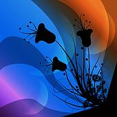 clip art of a flower background