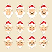 Santa Faces Set