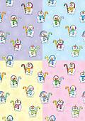 Snowman Seamless Patterns