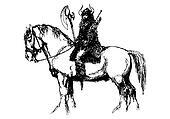Horse and Viking