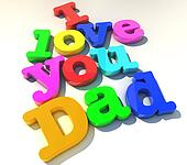 I love you dad over white background