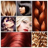 Hair Collage. Hairstyles