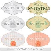 Wedding invitation labels set