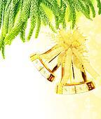 Christmas tree bells border