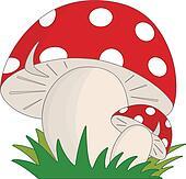 Mushroom Clip Art - Royalty Free - GoGraph