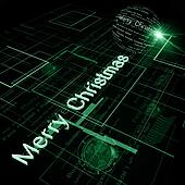 Christmas Greeting on Background of Technology