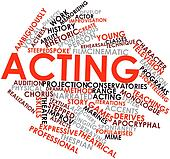 Word cloud for Acting