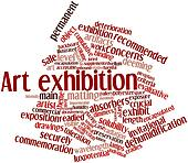 Word cloud for Art exhibition