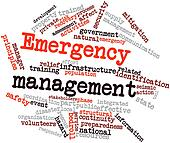 Word cloud for Emergency management
