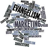 Word cloud for Evangelism marketing