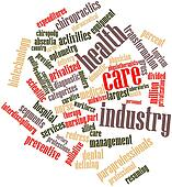 Word cloud for Health care industry