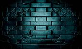 Dark brick wall in night scene background