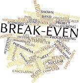 Word cloud for Break-even