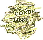 Word cloud for Corde lisse