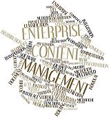 Word cloud for Enterprise content management