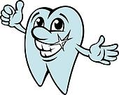 Happy cartoon tooth