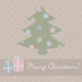 Christmas vector greeting card