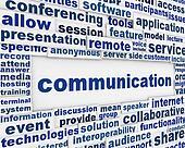 Global communication poster design
