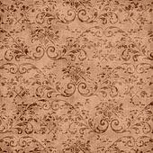 Brown Floral Tapestry Pattern