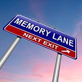 Memory lane concept.