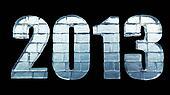 New year 2013 made from ice bricks