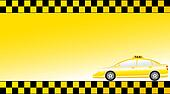business card  with modern taxi