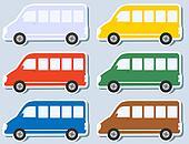 set of isolated minibus