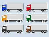 set of stickers with truck