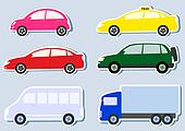 transport set with colorful cars