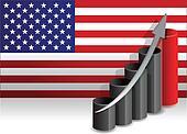 US economy improving business graph