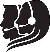 headset symbol (women headset)