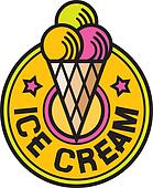 ice cream label (ice cream icon)