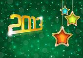 New Year 2013 Greeting Card