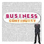 Business word cloud for business and finance concept, Business Continuity Concept