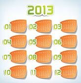 2013 Yearly Calendar print