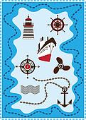 Marine, Sailing and Sea Icons, Vector Icon Set