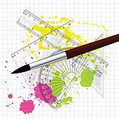 Maths Measurements n Drawing Brush
